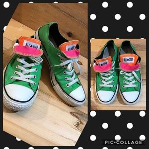 Green Converse w/colored tongue